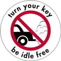 Turn Your Key Be Idle Free signage example